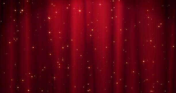 黄金の星と赤メリークリスマスの背景。バレンタインデーのための walpaper - glitter curtain点のイラスト素材/クリップアート素材/マンガ素材/アイコン素材