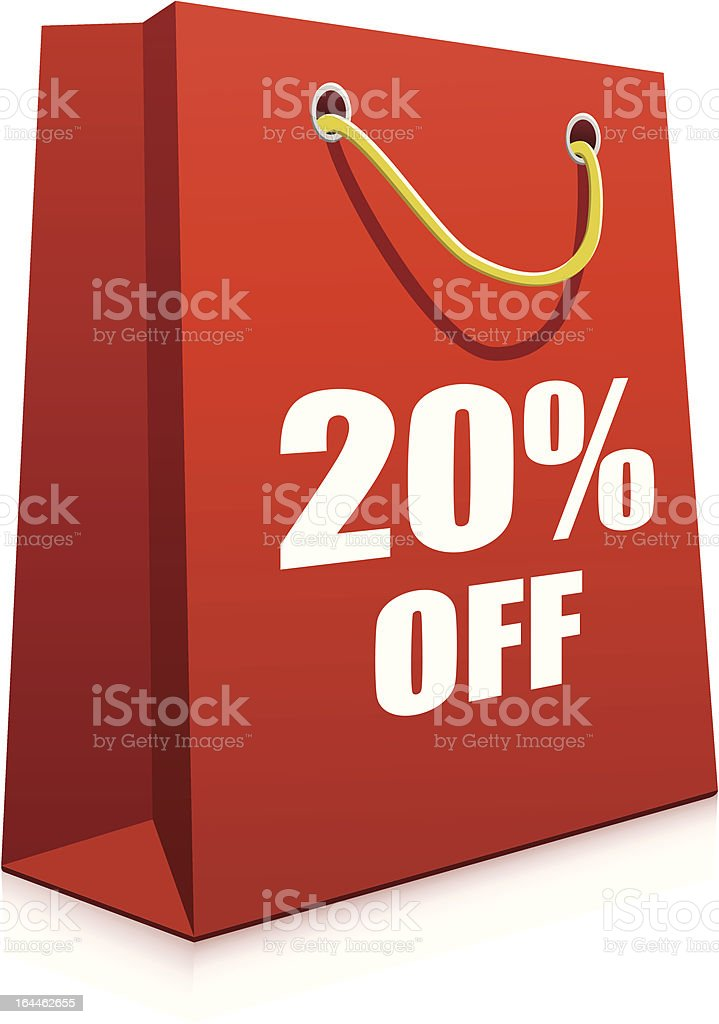 Red Paper Shopping Bag royalty-free red paper shopping bag stock vector art & more images of advertisement