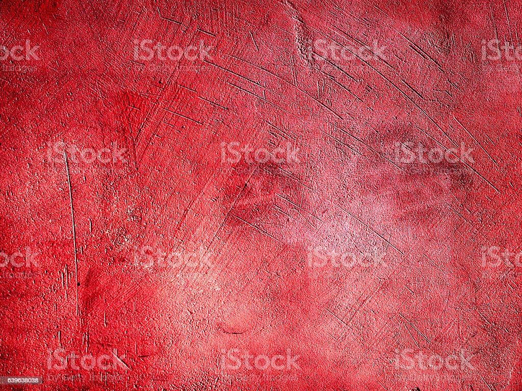 Red plaster wall surface vector art illustration