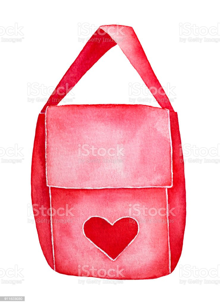 e7f5ed6c4b05 Red Postman Bag With Embroider Heart For Valentine Love Letters Mail ...