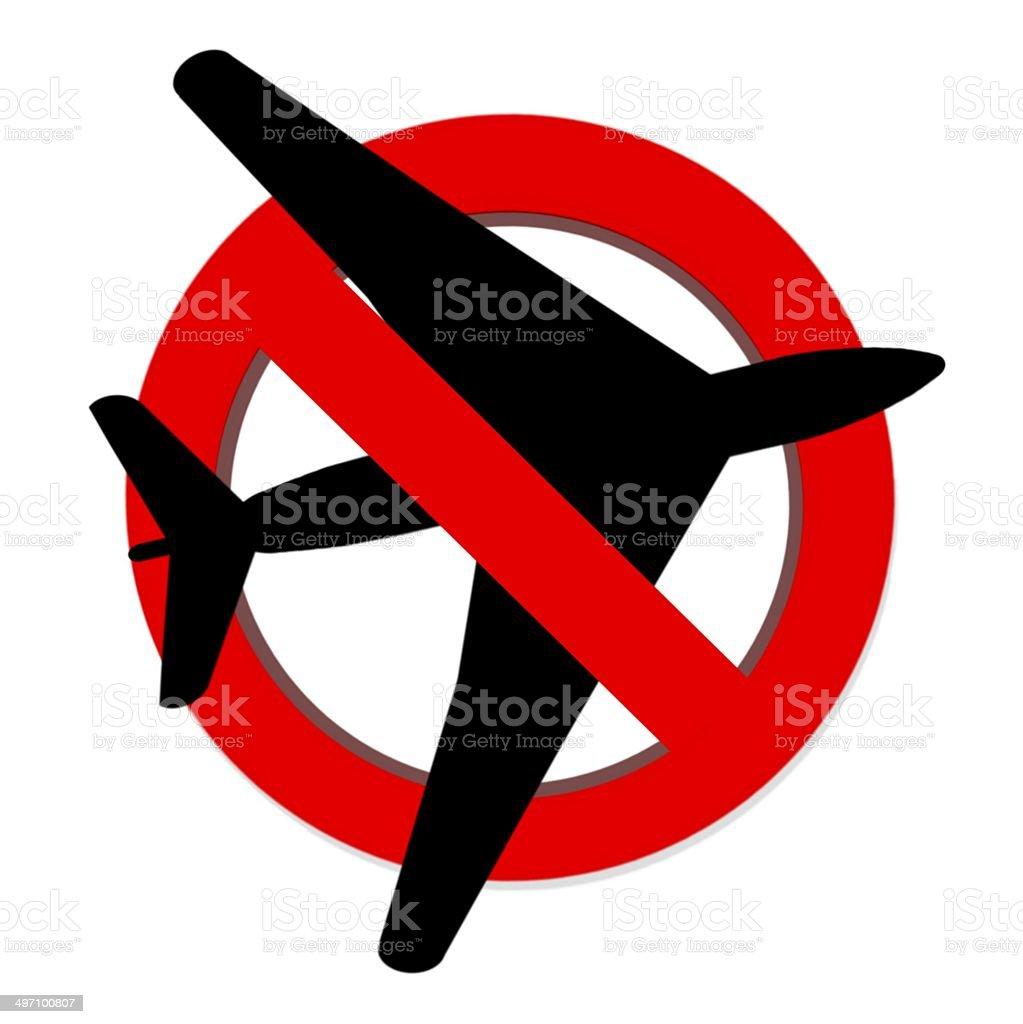 Rosso Divieto Non Volare Firmare Su Sfondo Bianco Immagini
