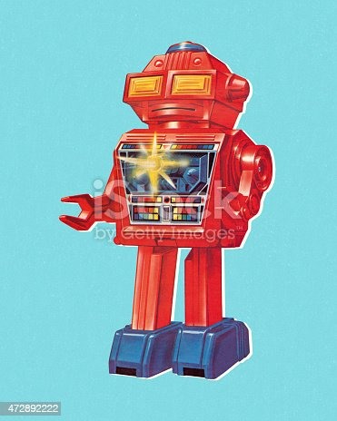 istock Red Robot 472892222