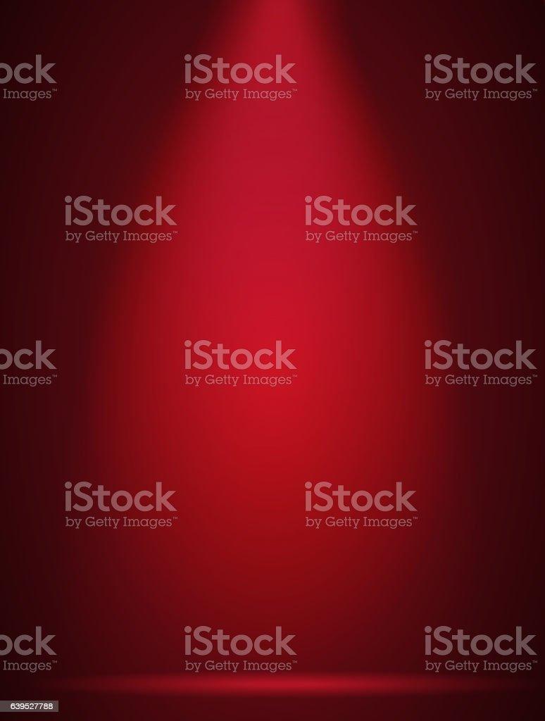 Red scene spotlights -  Background vector art illustration