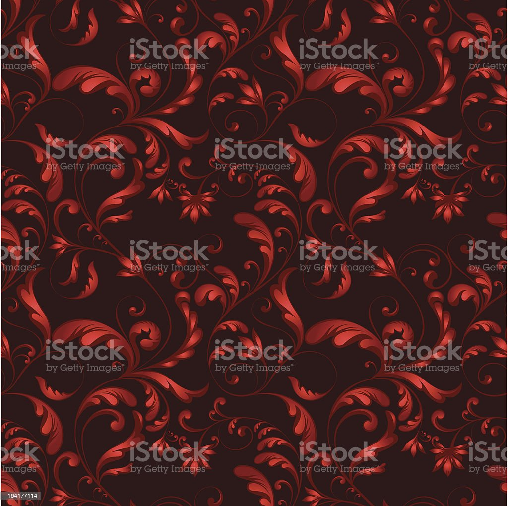 red seamless flower texture royalty-free red seamless flower texture stock vector art & more images of antique