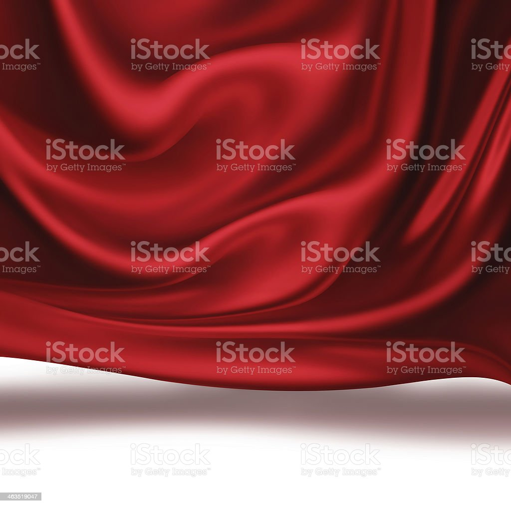 red Silk vector art illustration