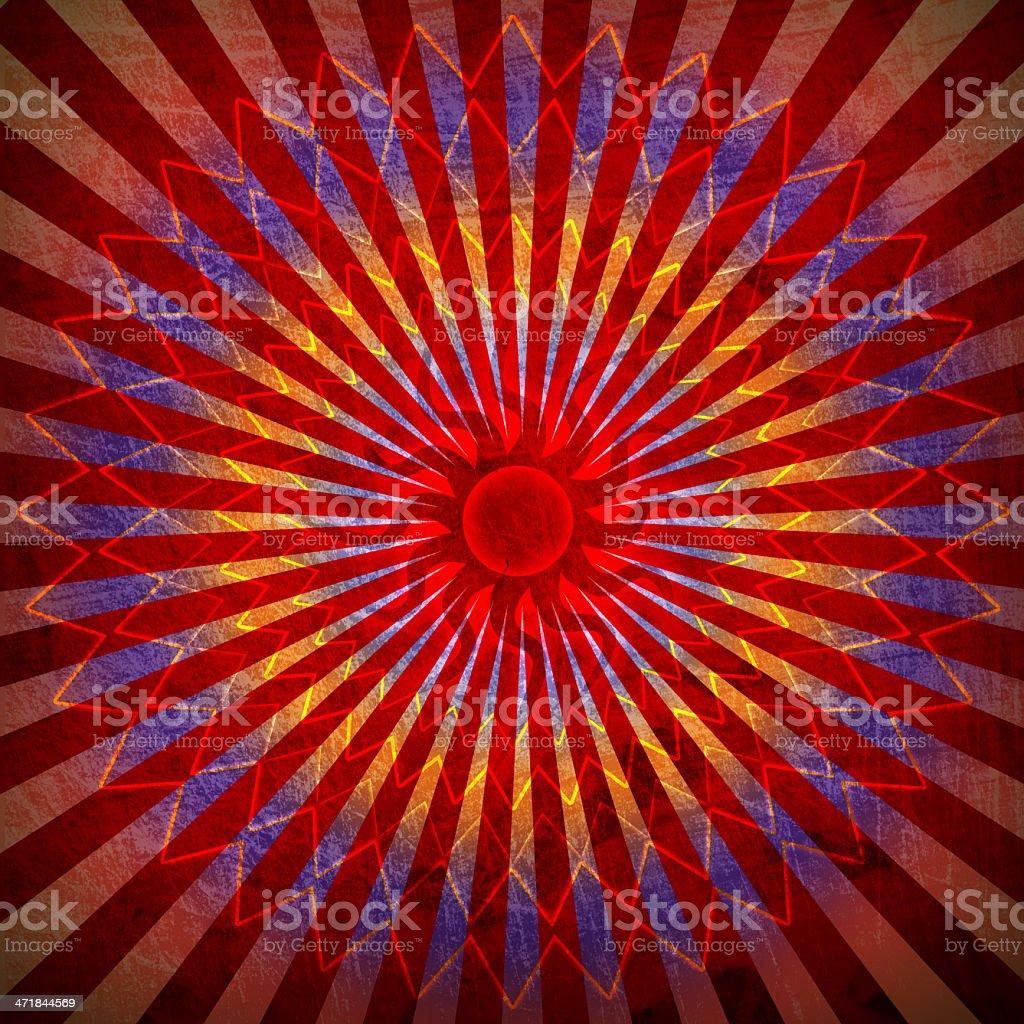 red spirutal sun background royalty-free stock vector art