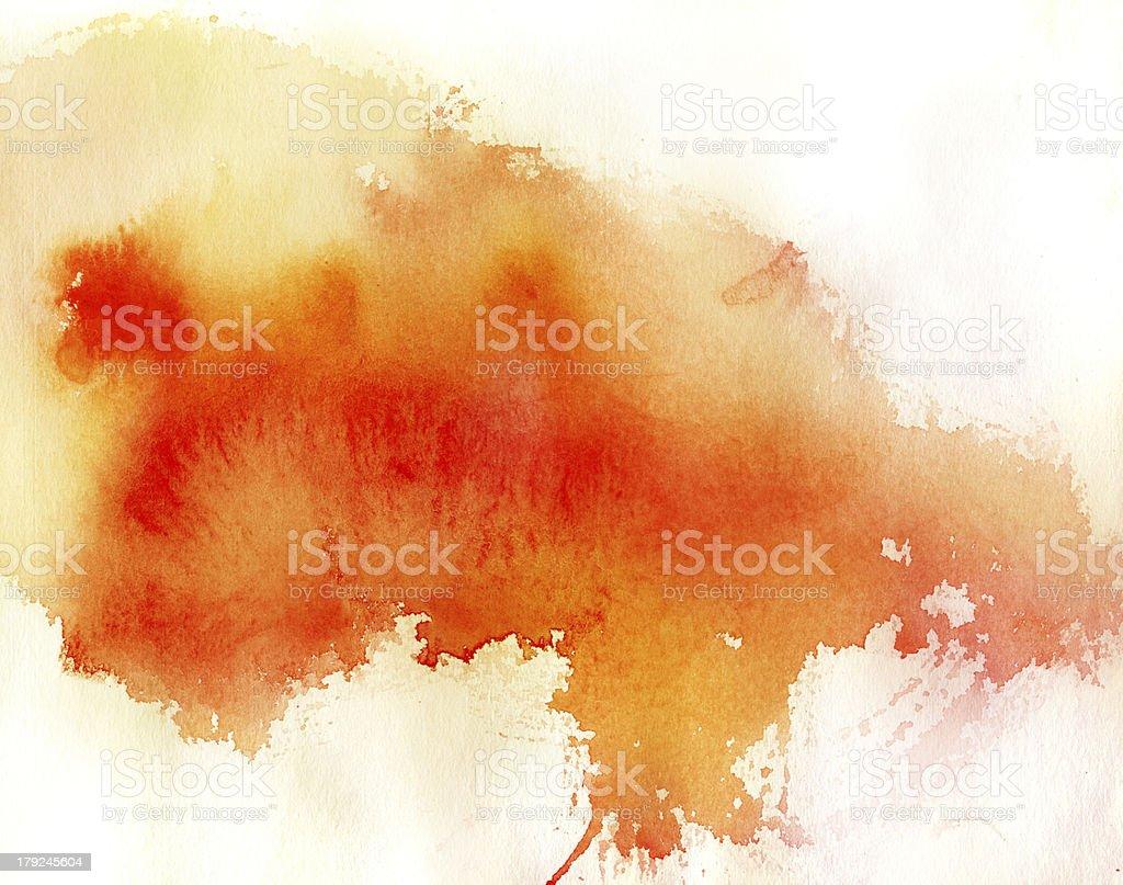 Ponto Vermelho, Fundo abstrato aquarela pintados à mão - Ilustração de Abstrato royalty-free
