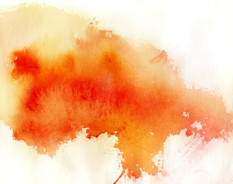 Vetores de Ponto Vermelho Fundo Abstrato Aquarela Pintados À Mão e mais imagens de Abstrato