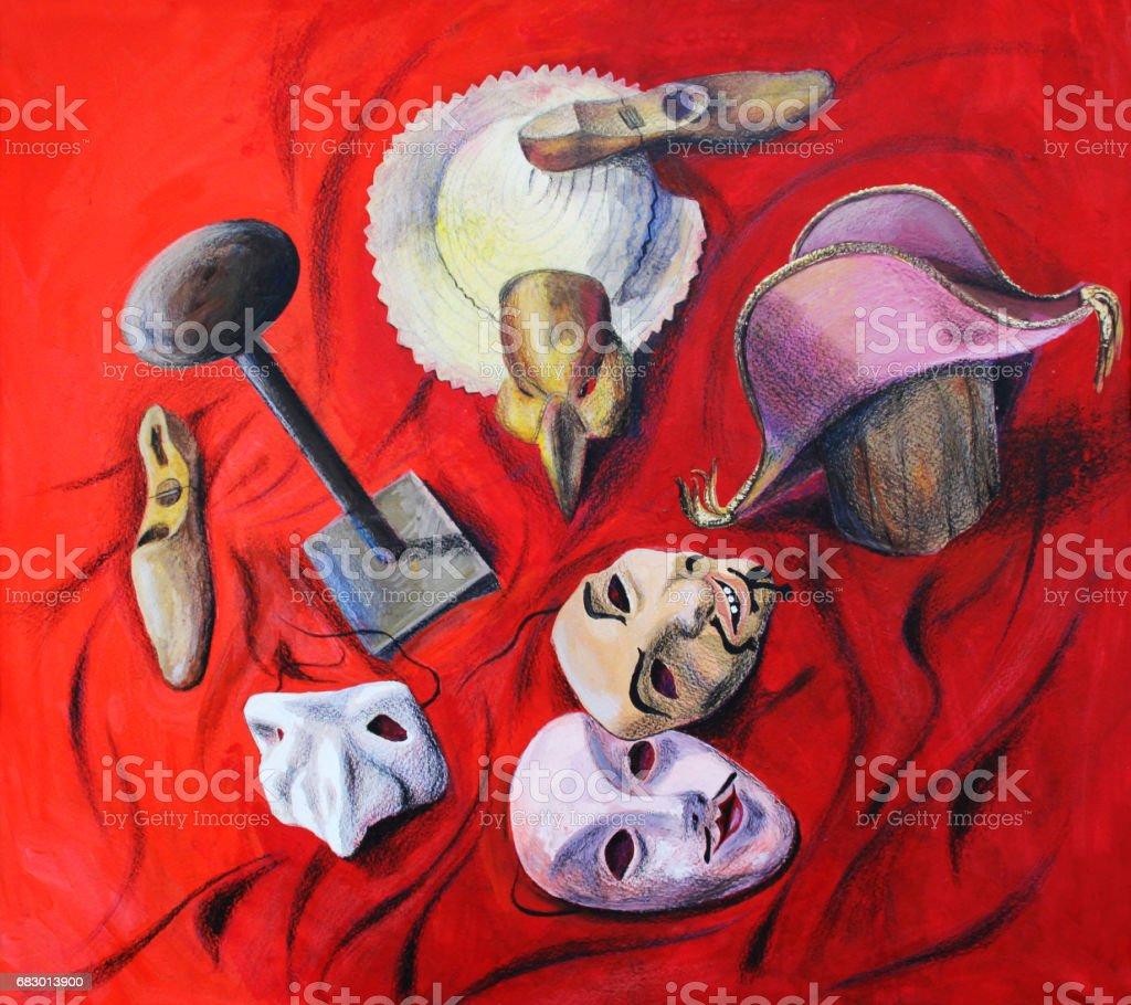 Bodegón rojo, dibujo ilustración acuarela a mano ilustración de bodegón rojo dibujo ilustración acuarela a mano y más banco de imágenes de accidentes y desastres libre de derechos