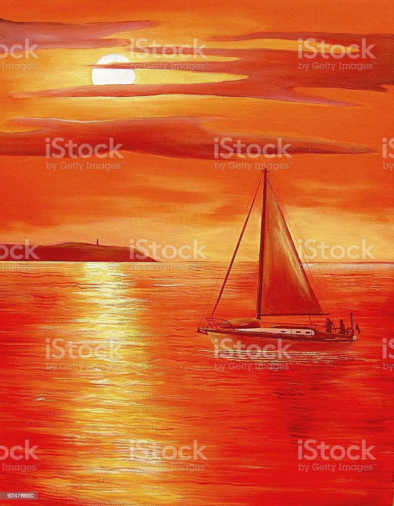 Red Sunset royalty-free stock vector art