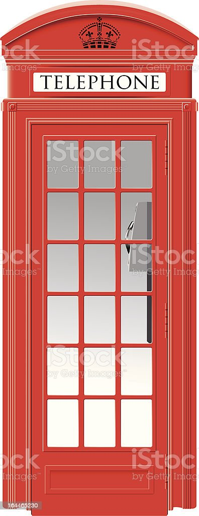 Red telephone box - London symbol royalty-free stock vector art