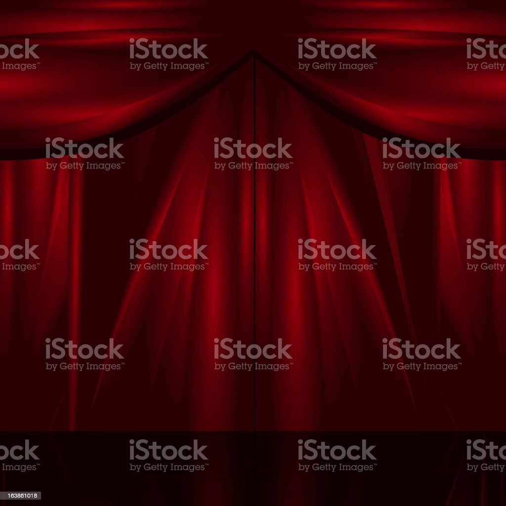 Red theatre curtain background royalty-free stock vector art