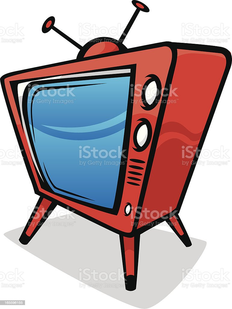 red tv royalty-free red tv stock vector art & more images of antenna - aerial