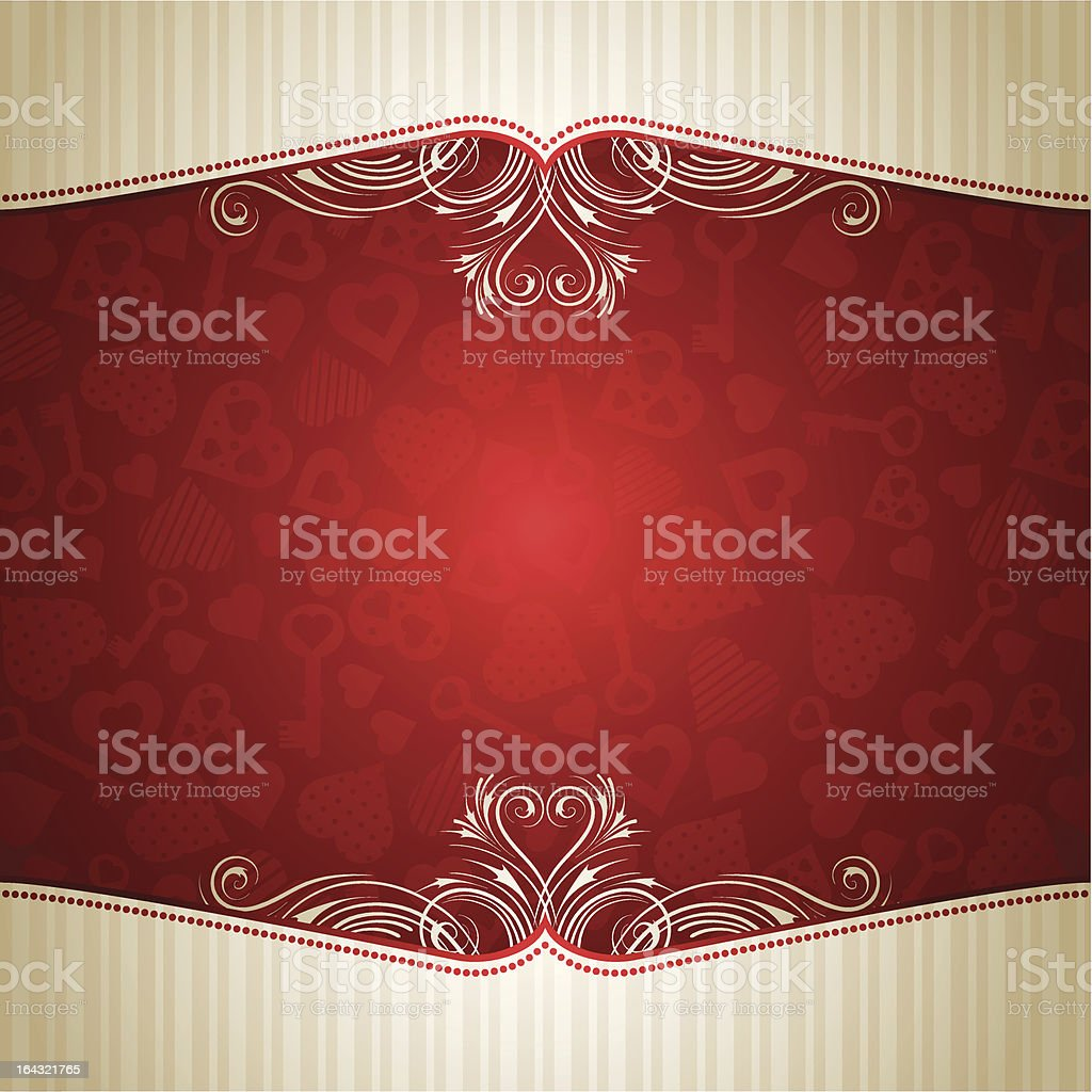 red valentine background with many hearts royalty-free stock vector art
