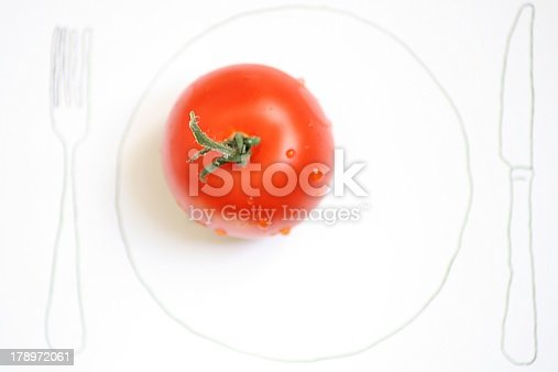 istock Red vegetable called a tomato 178972061