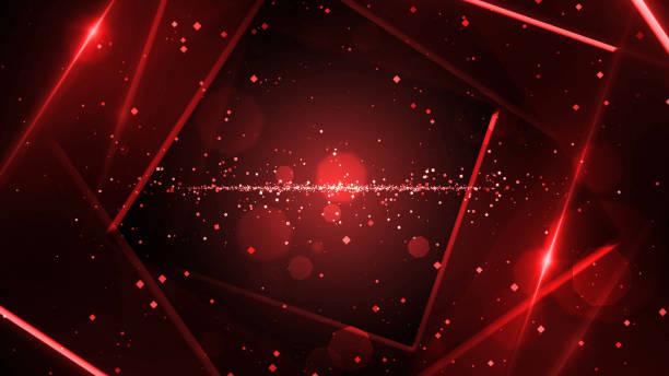 stockillustraties, clipart, cartoons en iconen met rode virtuele abstracte achtergrond ruimte tunnel met neon lijn verlichting. - boog architectonisch element