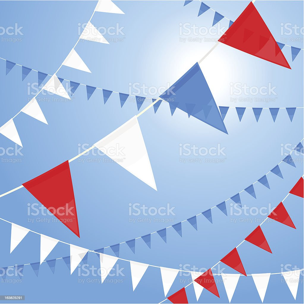 Red white a blue pennants royalty-free stock vector art