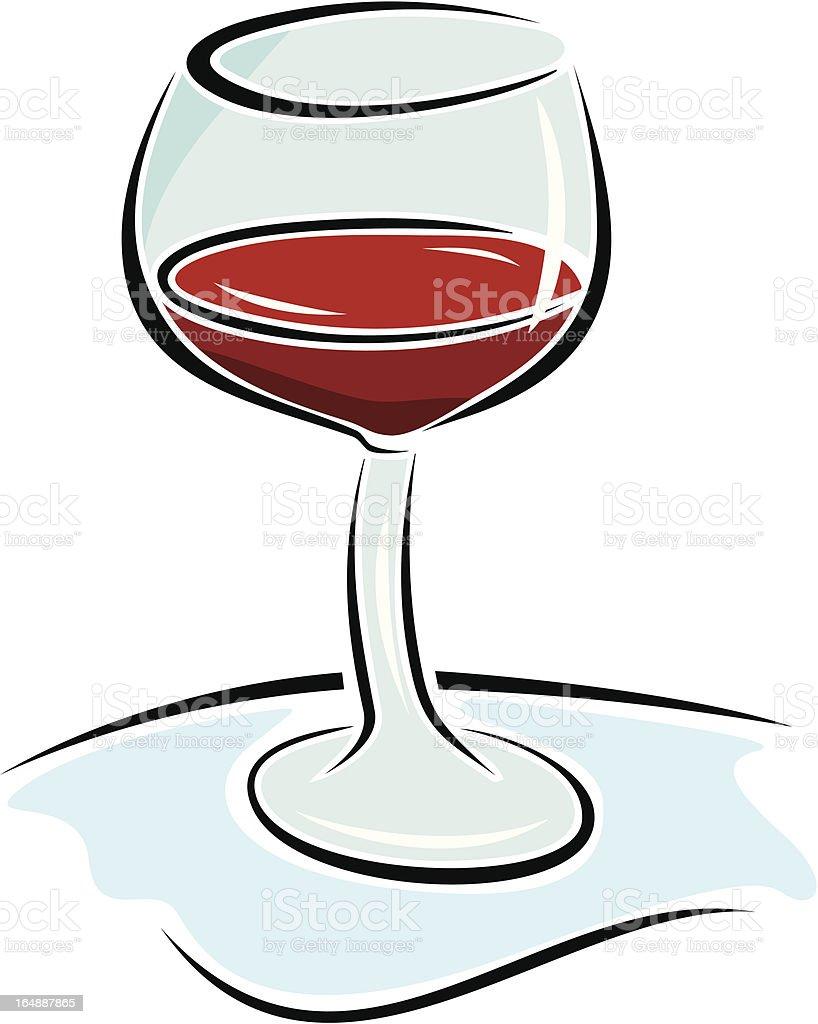 Red Wine Glass Vektor Stock Vektor Art und mehr Bilder von ClipArt ...