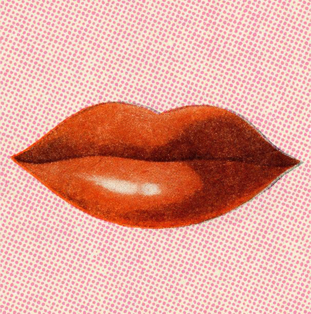 Femme lèvres rouge - Illustration vectorielle