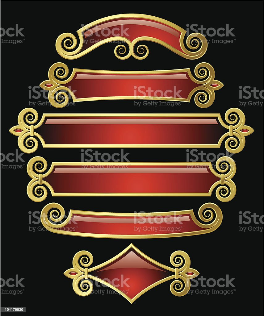 Red-gold banners royalty-free redgold banners stock vector art & more images of ancient