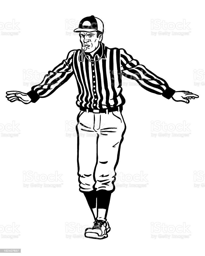 Referee Signaling royalty-free stock vector art