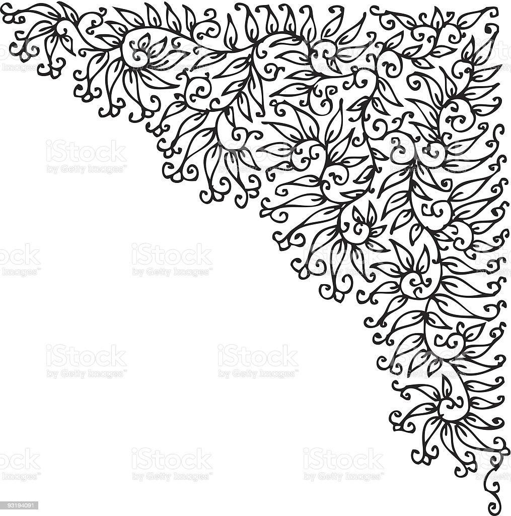 Refined vignette royalty-free stock vector art