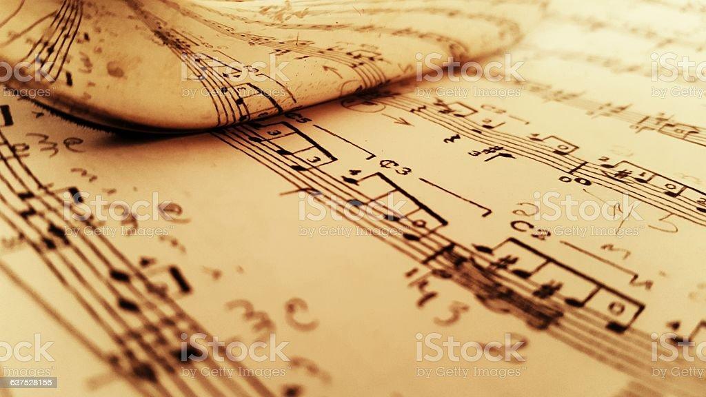 Reflected music sheet vector art illustration