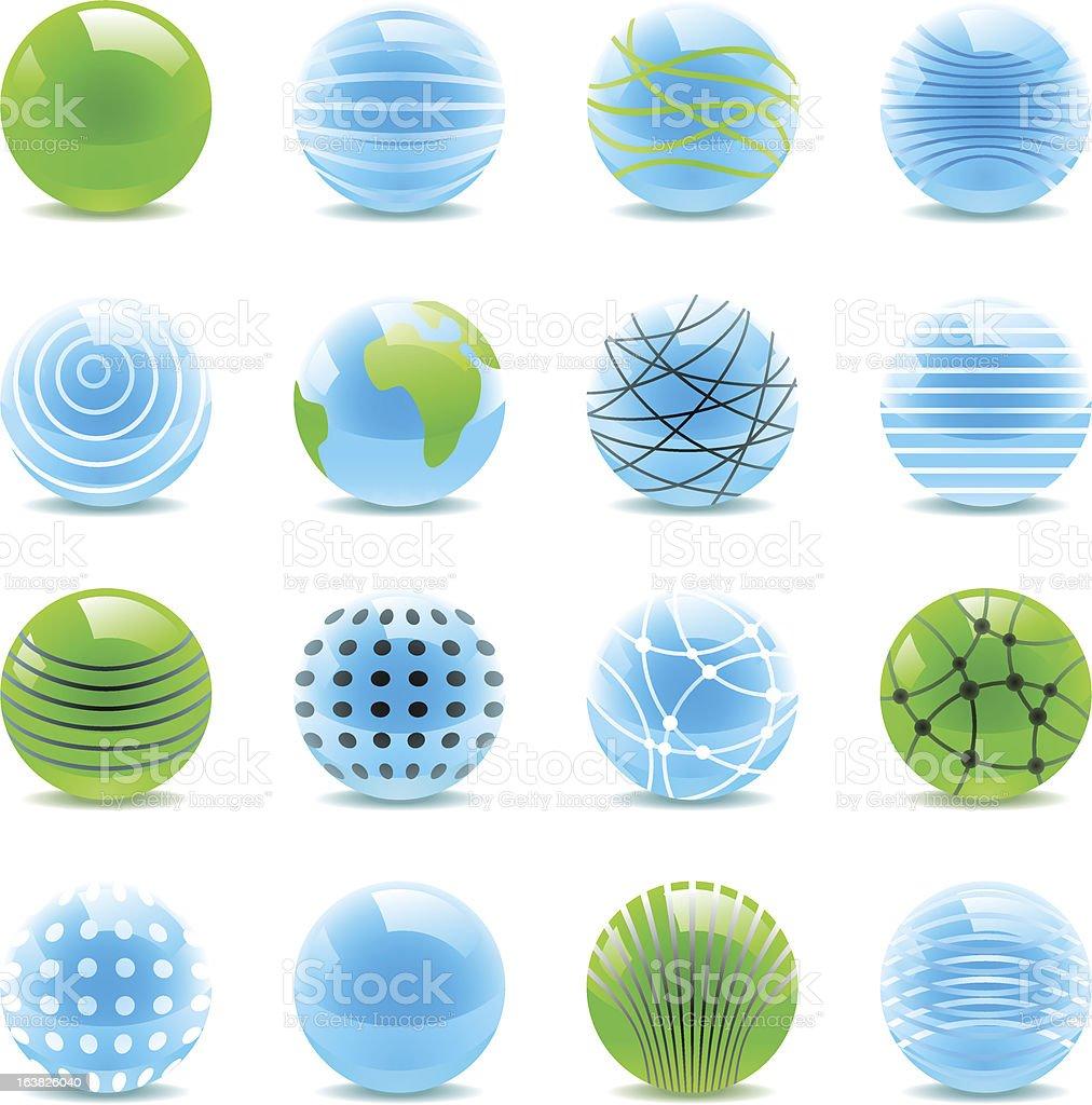 refracting spheres royalty-free stock vector art