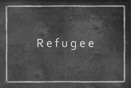Refugee on a Blackboard