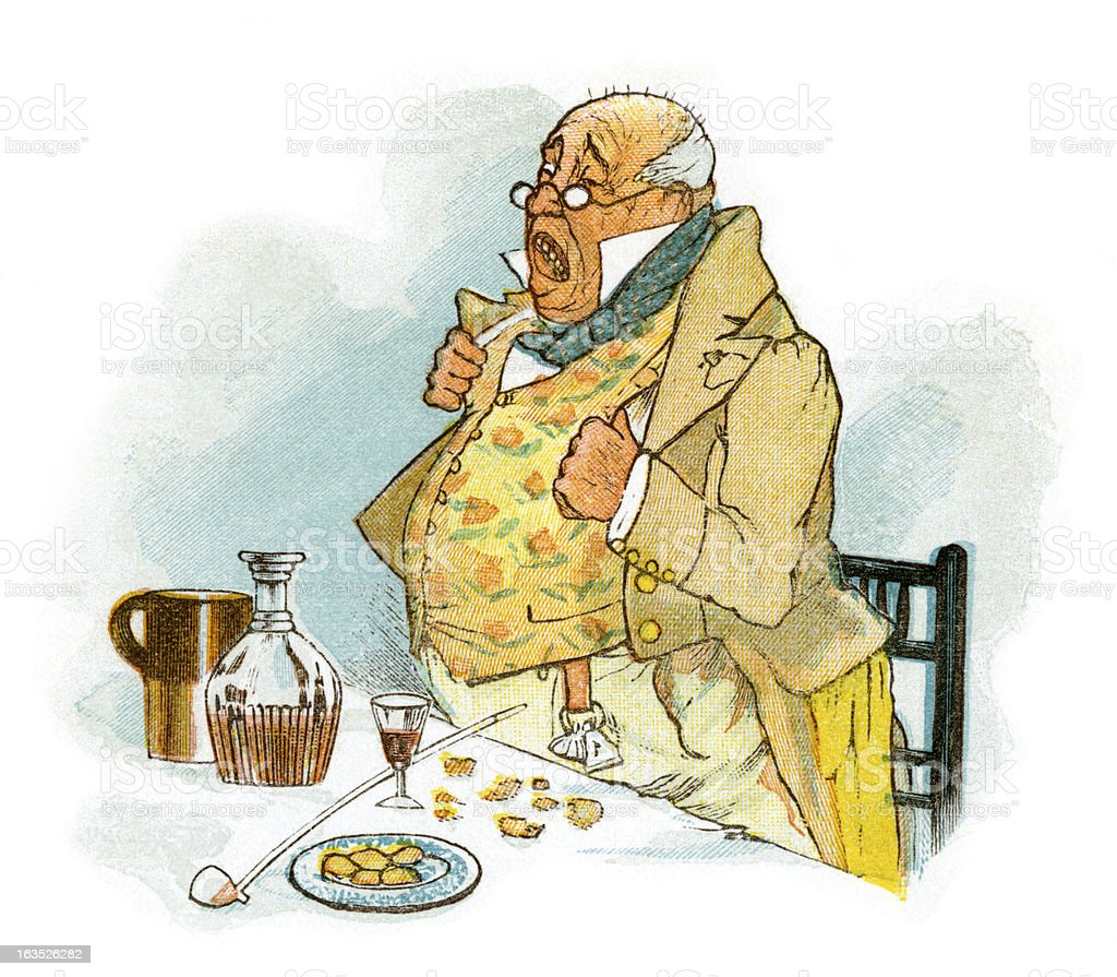 Regency period gentleman making a speech royalty-free stock vector art