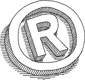 Registered Symbol Drawing