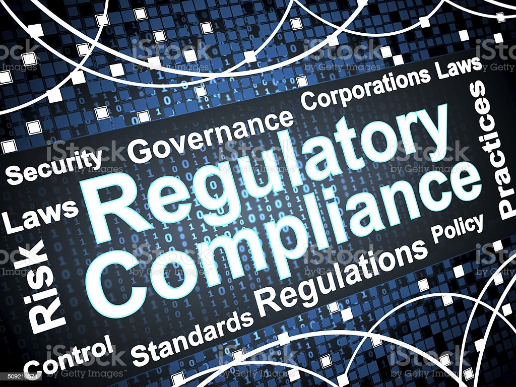 Regulatory Compliance vector art illustration