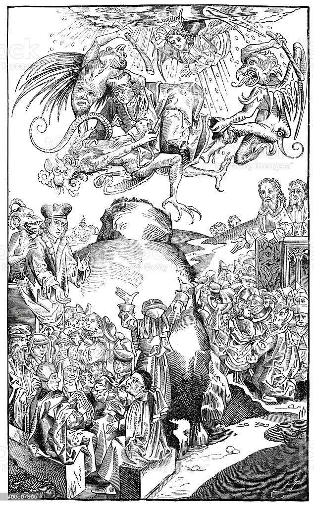 Reign de Antichrist - ilustración de arte vectorial