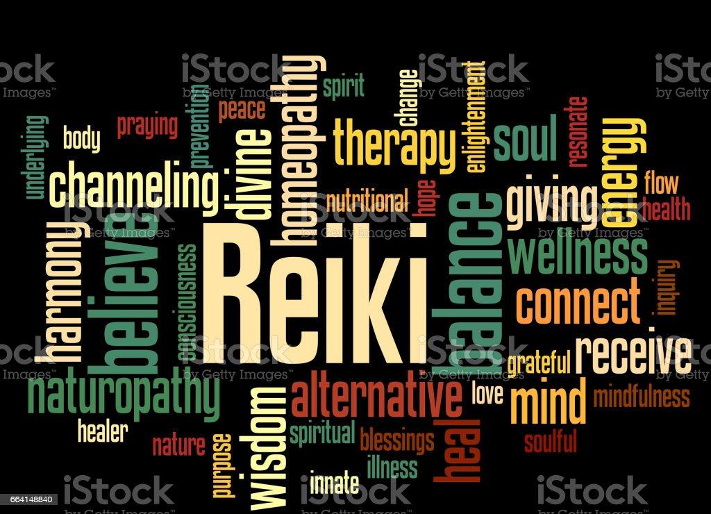 Reiki, word cloud concept 9 reiki word cloud concept 9 - immagini vettoriali stock e altre immagini di abbondanza royalty-free
