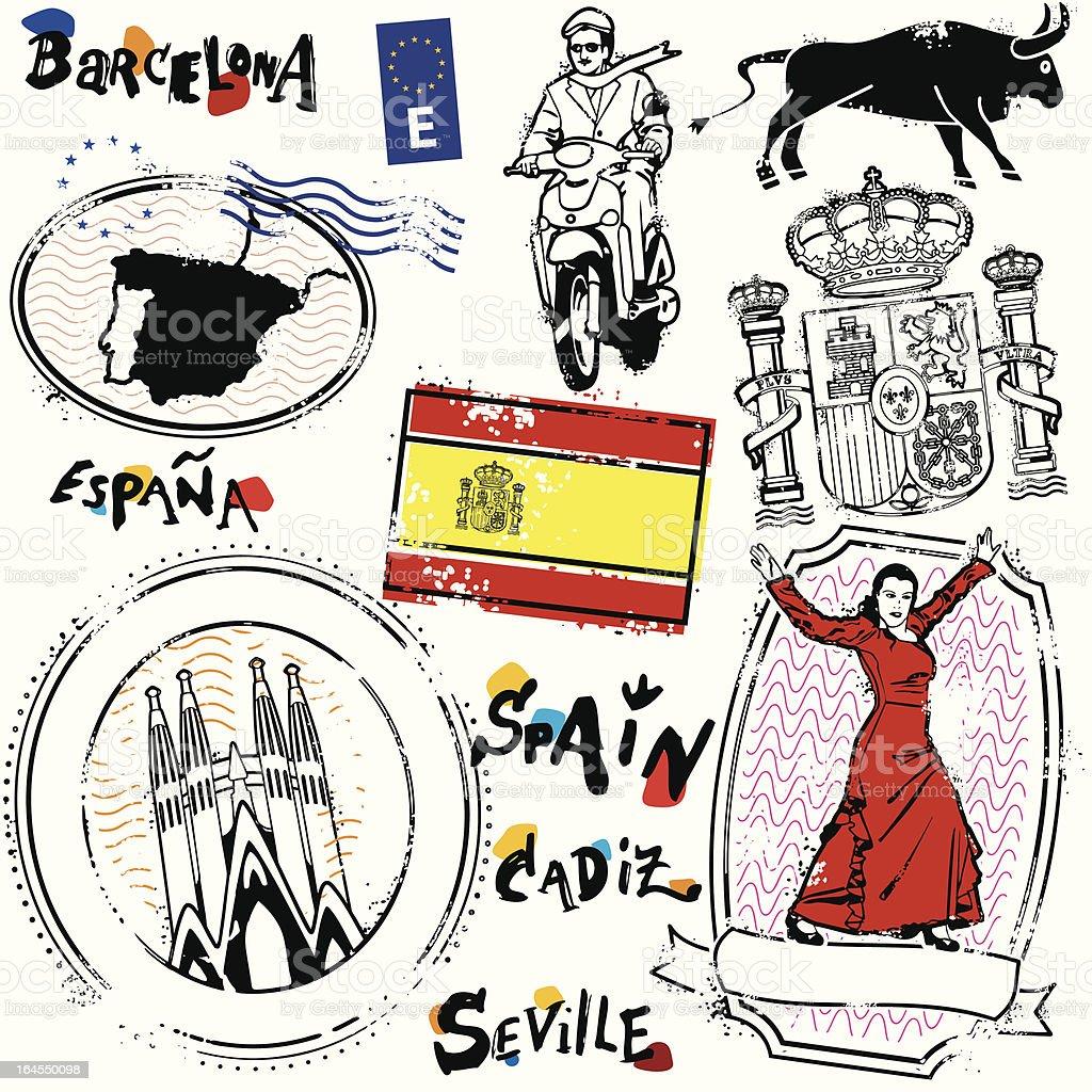 Reino de Espana royalty-free stock vector art