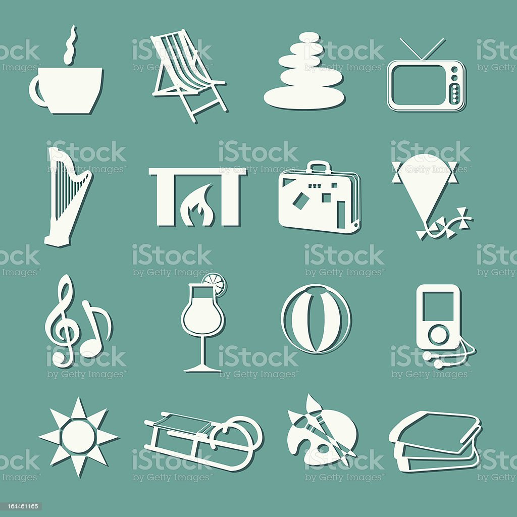 relax icons royalty-free stock vector art