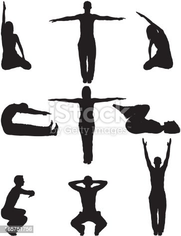 Relaxation yoga men and women