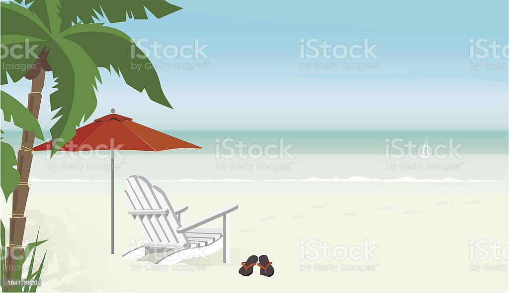 Relaxing Day at the Beach vector art illustration