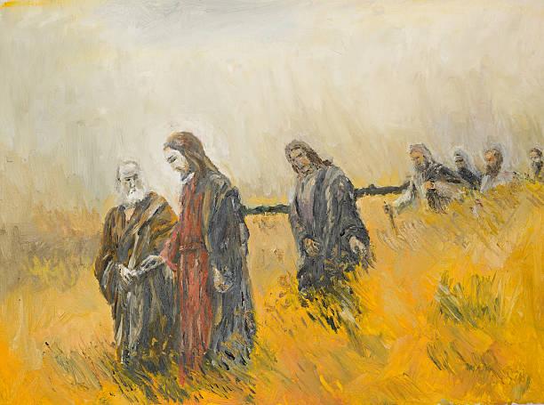 ilustrações de stock, clip art, desenhos animados e ícones de cena religioso, cristo e a sua disciples - jesus cristo