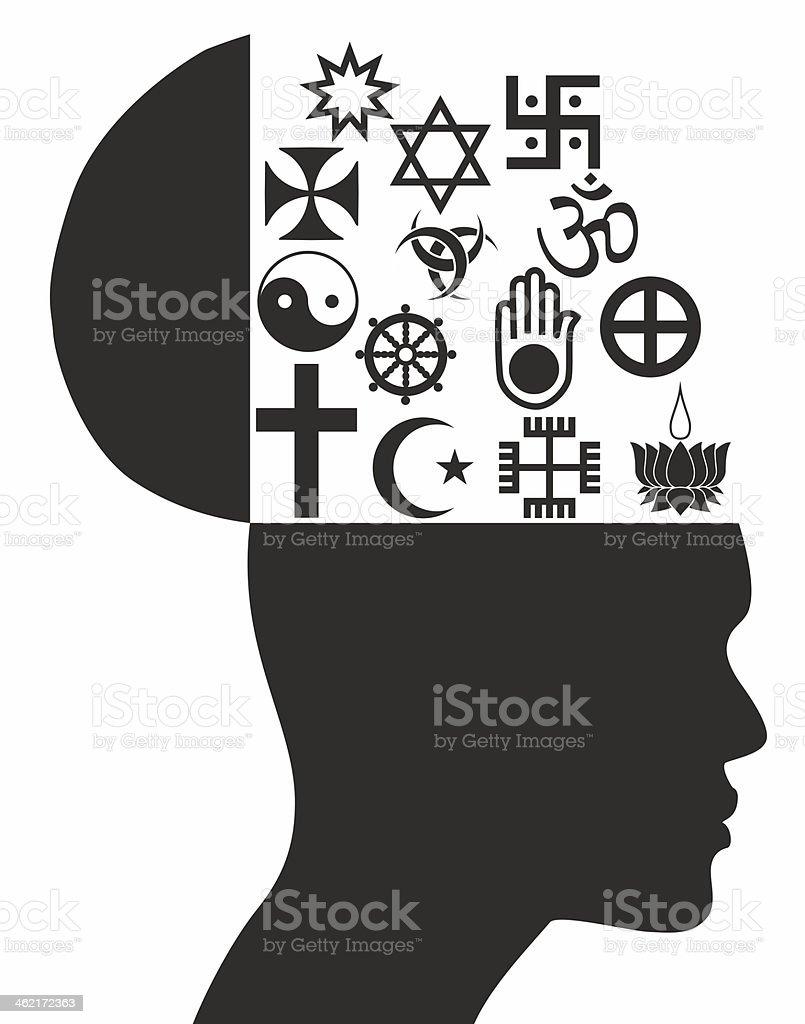 Religious symbols - Illustration royalty-free stock vector art