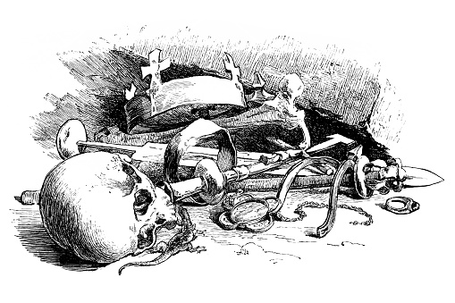 Illustration of a Remains found in the coffin of King Bela