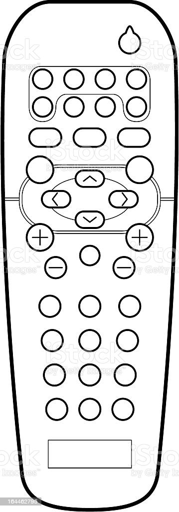remote control drawing. remote control line art royalty-free stock vector drawing