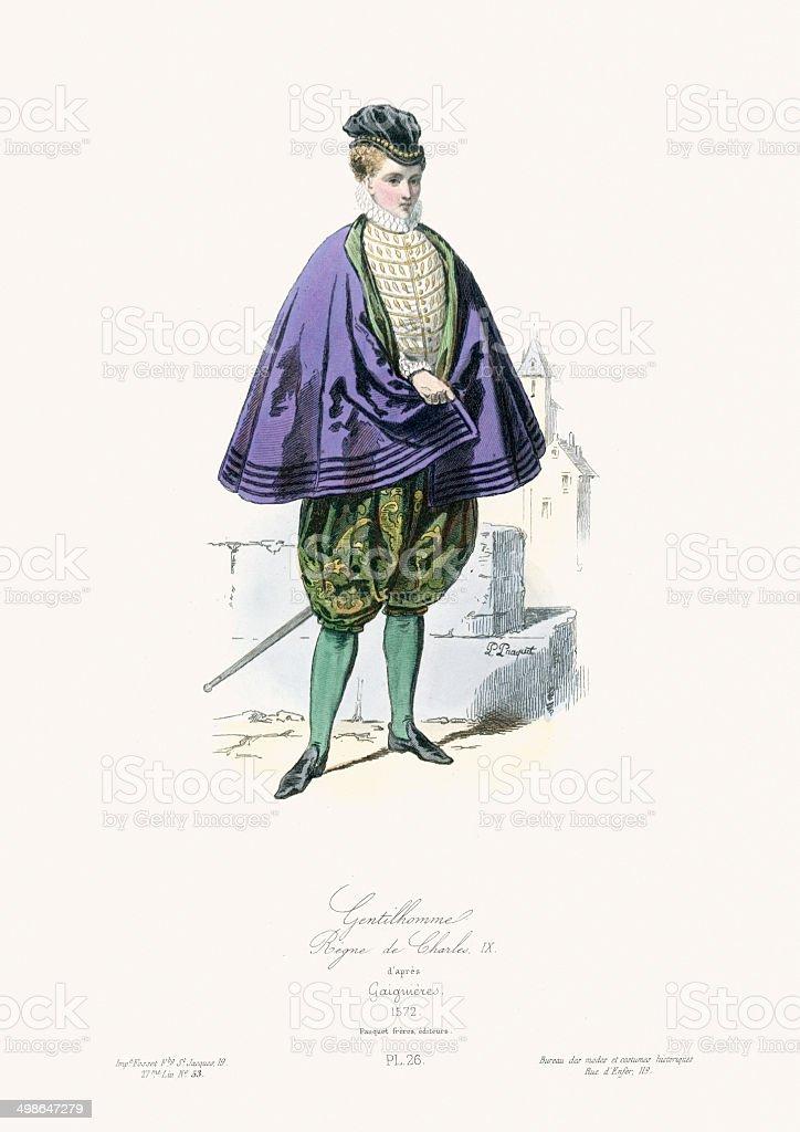 Renaissance Fashion - Gentleman royalty-free stock vector art