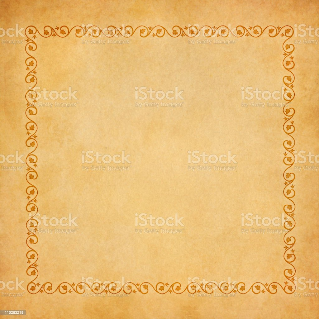 renaissance old paper vector art illustration