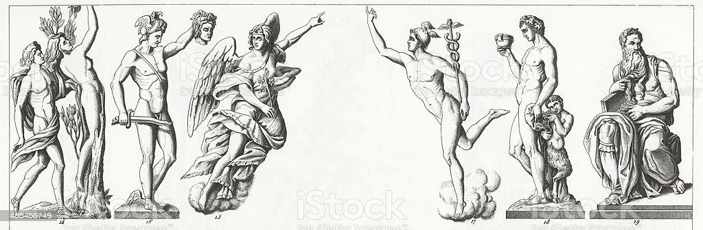 Renaissance Sculpture vector art illustration
