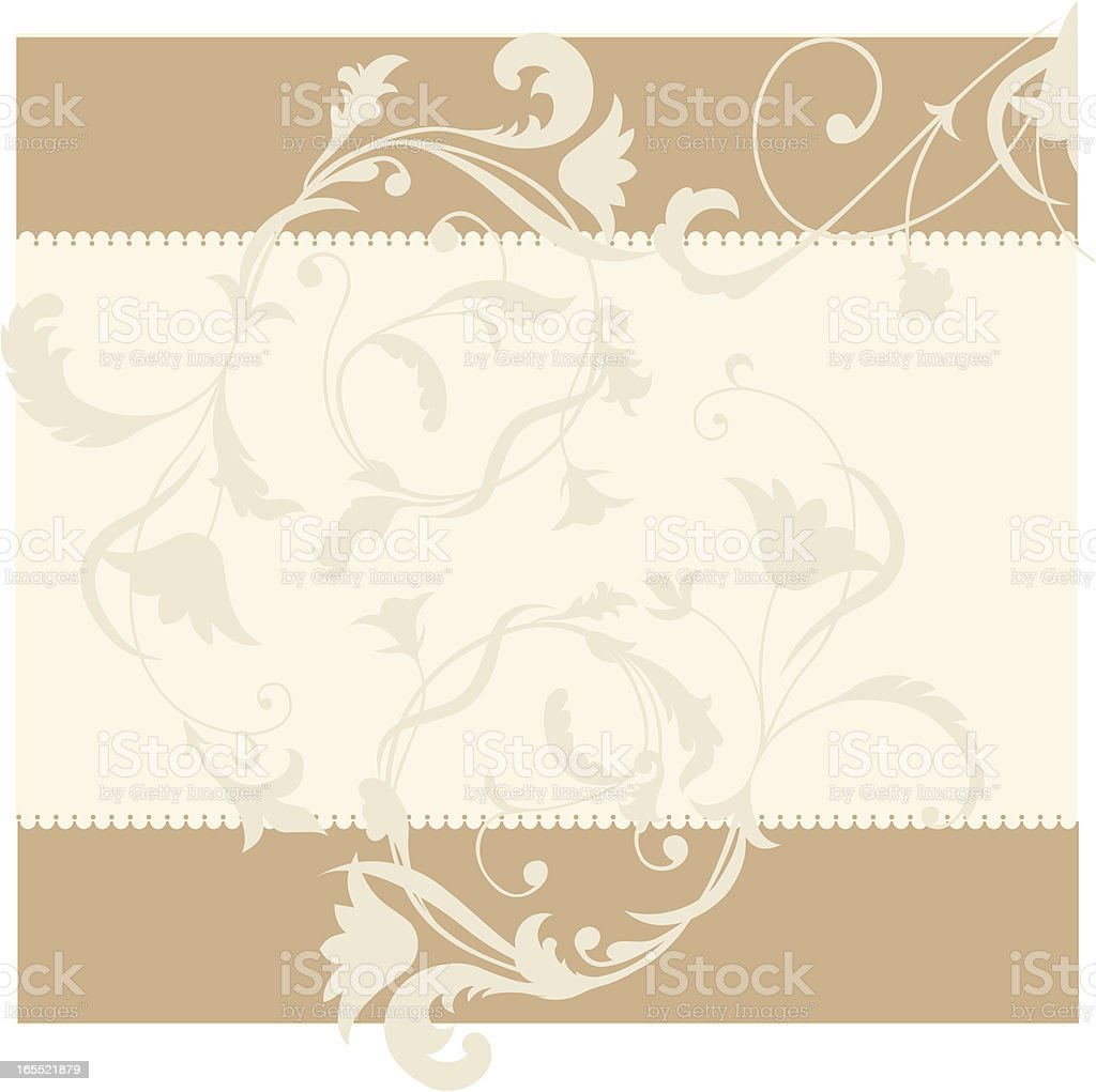 Renaissance Style floral background vector art illustration