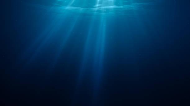 3d rendered illustration of sun light rays under water. - 海点のイラスト素材/クリップアート素材/マンガ素材/アイコン素材