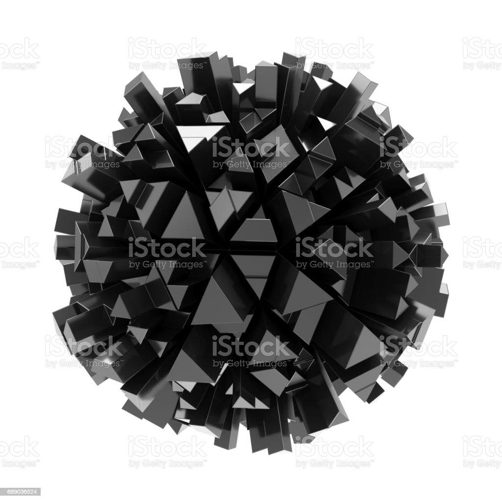 3D Rendering abstract sphere on white background vector art illustration