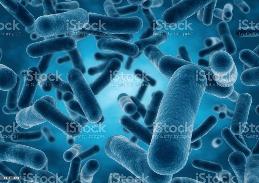 3D rendering Bacteria closeup vector art illustration