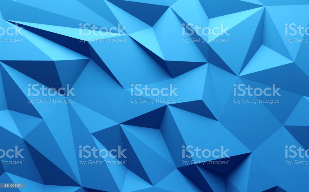 3D rendering Blue color triangle geometrical background royalty-free 3d rendering blue color triangle geometrical background stock illustration - download image now
